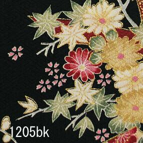 Japanese woven fabric Yuzen  1205bk