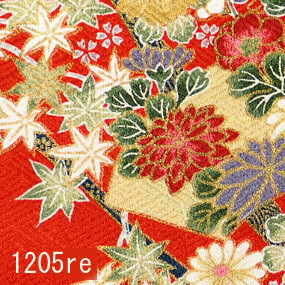 Japanese woven fabric Yuzen  1205re