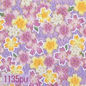 Japanese woven fabric Chirimen  1135pu