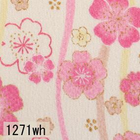 Japanese woven fabric Chirimen  1271wh
