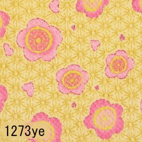Japanese woven fabric Chirimen 1273ye