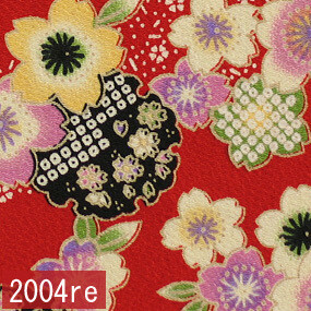 Japanese woven fabric Chirimen  2004re