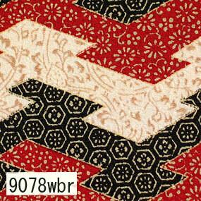 Japanese woven fabric Chirimen  9078wbr
