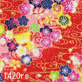 Japanese woven fabric Chirimen  1420re