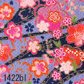 Japanese woven fabric Chirimen  1422bl
