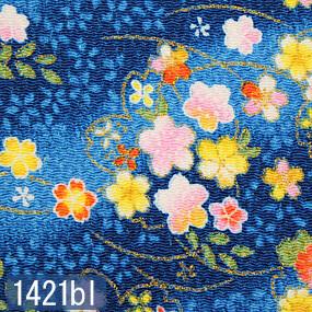 Japanese woven fabric Chirimen  1421bl