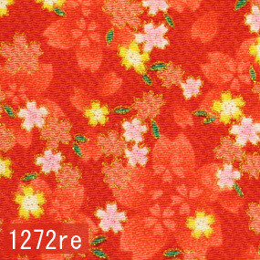 Japanese woven fabric Chirimen  1272re