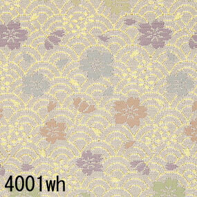 Japanese woven fabric Kinran  4001wh