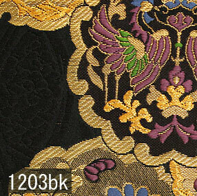 Japanese woven fabric Kinran  1203bk