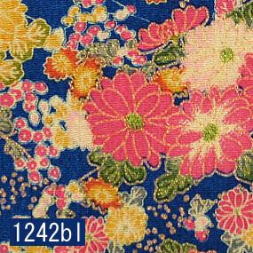 Japanese woven fabric Chirimen  1242bl