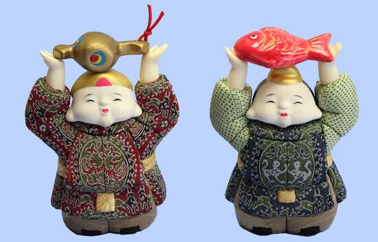 Kimekomi Doll #406 A pair of EBISU DAIKOKU