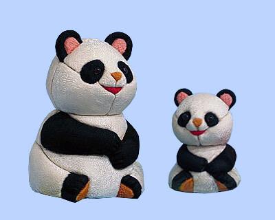 Kimekomi Doll #768 PANDA-DAD and KID