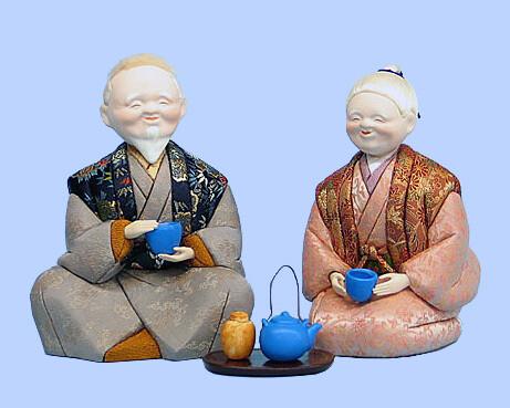 Kimekomi Doll #449 A pair of HIDAMARI-TAKASAGO
