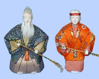 Kimekomi Doll #126 A pair of AIOI-TAKASAGO MIDIUM