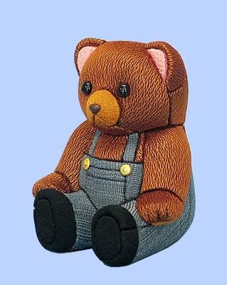 Kimekomi Doll #208 TEDDY BEAR DENIM