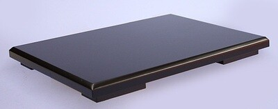 Black-lacquered Board Stand 30x24