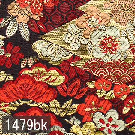 Japanese woven fabric Kinran  1479bk