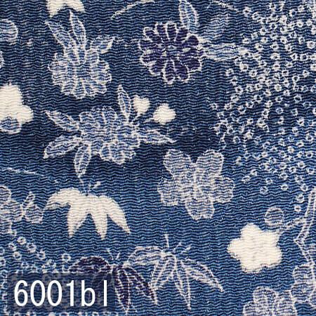 Japanese woven fabric Chirimen 6001bl
