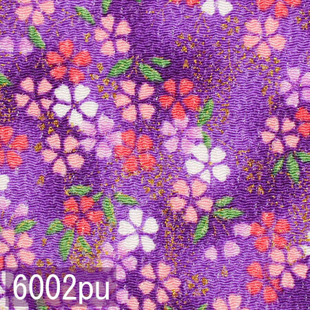 Japanese woven fabric Chirimen  6002pu