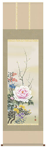 Japanese flowers of four seasons. Code: hng-scrl_a1-035