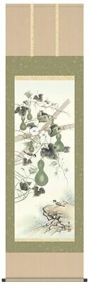 Six Gourds and sparrows. Code: hng-scrl_a3-055