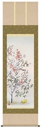 Seasonal Kakejiku of the winter. Code: hng-scrl_a5-20d_win