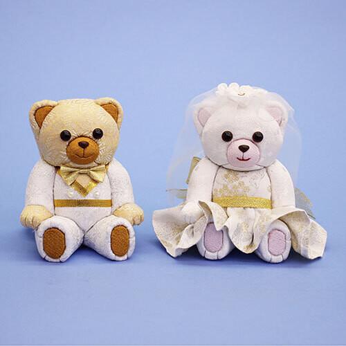 Wedding bear KIMEKOMI DOLLS bk & pnk