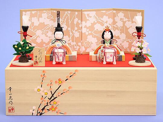 """Kimekomi Hina Dolls """"TONO and HIME"""" Display Box Set"""