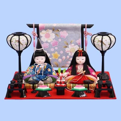 """Kimekomi Hina Dolls """"MAME-BINA"""" Display Set"""