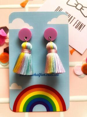 Cotton Candy Mini Tassel - Pink