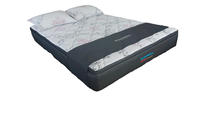 Sleepwell Medium Pocket Spring Pillow Top Mattress Only
