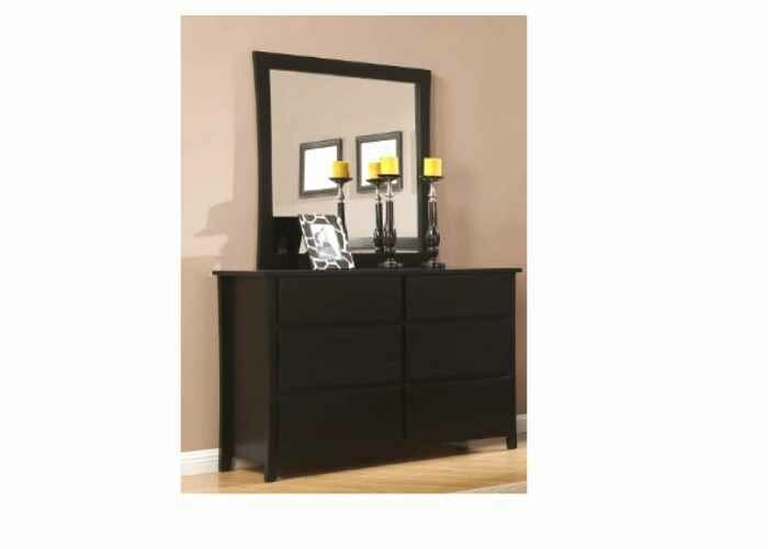 Evergreen Dresser with Mirror 6 Drawer