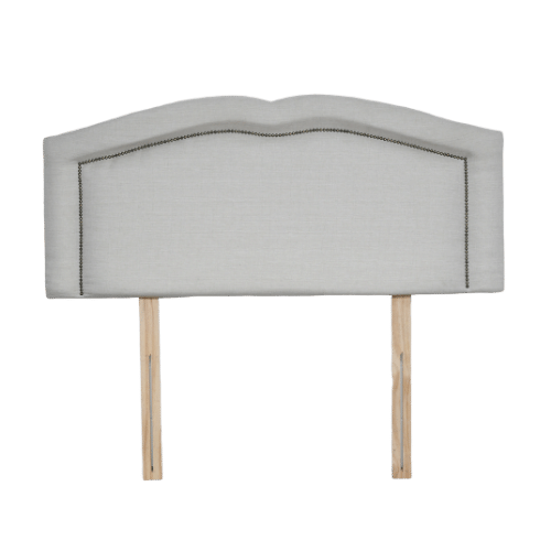 Fabric Upholstered Curved Shape Tufted Button