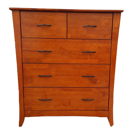 Country 5 Drawer Oak Tallboy