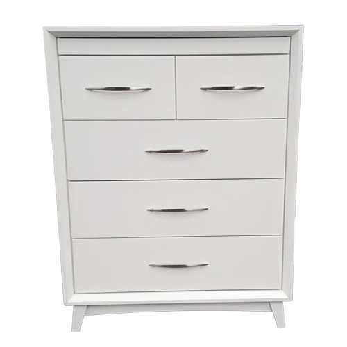 Gita 6 Drawer White Tallboy