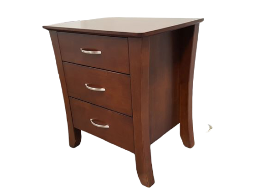 Country 3 Drawer Wenge Bedside Table