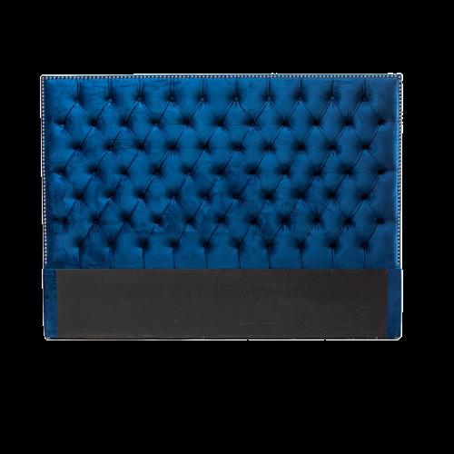 Tufted Velvet Headboard (Navy Blue)