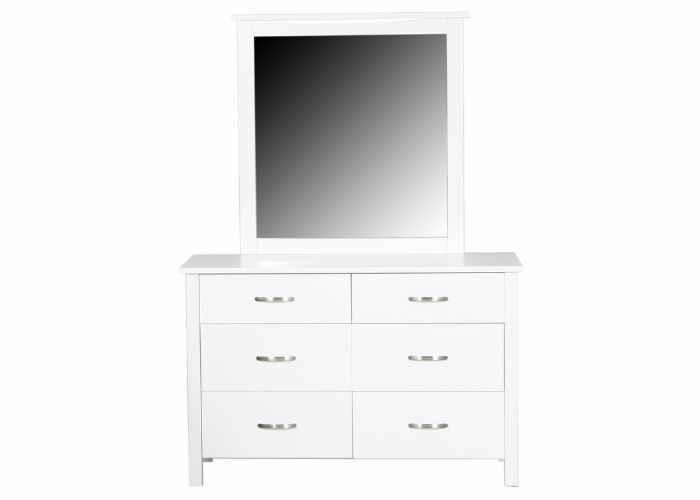 Evergreen Dresser with Mirror (White)