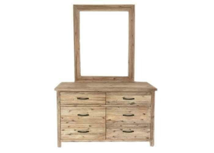 Bari Dresser with Mirror 6 Drawer