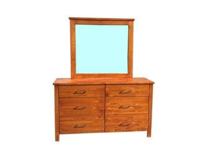 Cali Dresser with Mirror 6 Drawer