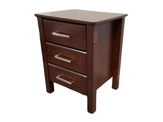 Jessie 3 Drawer Wenge Bedside Table