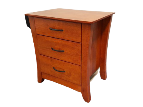 Country 3 Drawer Oak Bedside Table