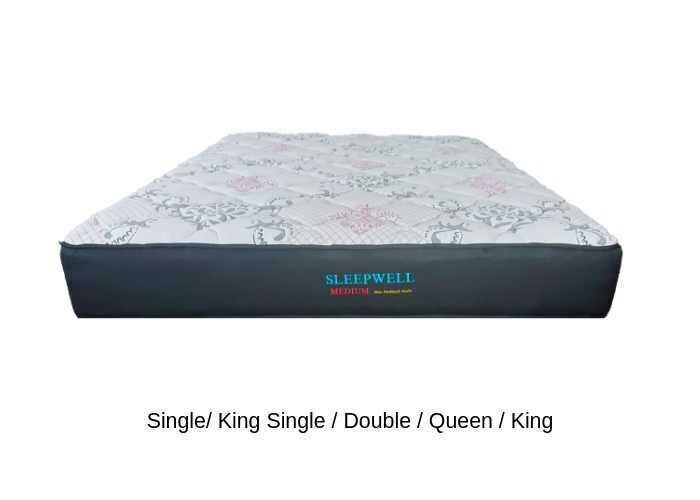 Sleepwell Medium Pocket Spring Mattress Only