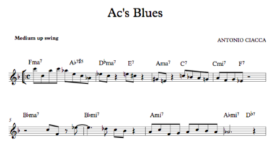 Ac's Blues (Lead Sheet)
