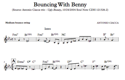 Bouncing With Benny (Lead Sheet)