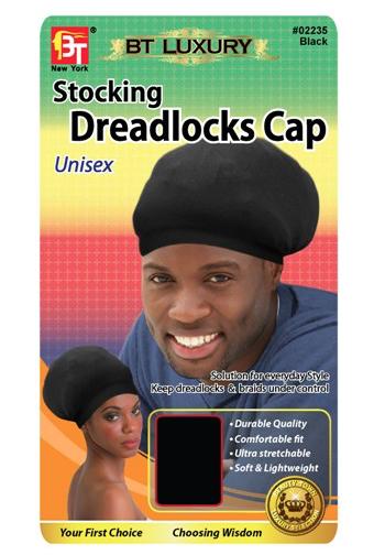 Stocking Dreadlocks Cap-Black