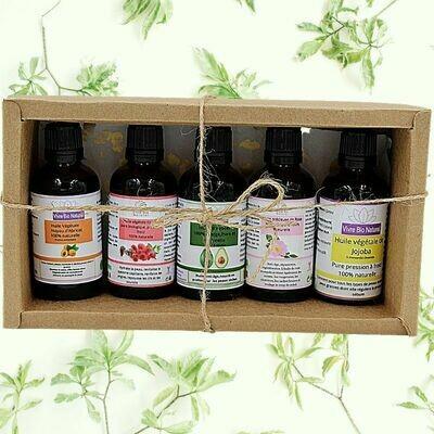 Coffret phytothérapie 5 huiles végétales