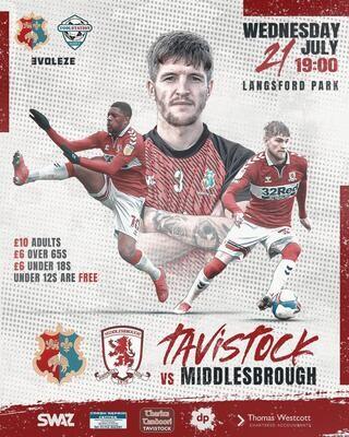 Tavistock AFC v Middlesbrough F.C.