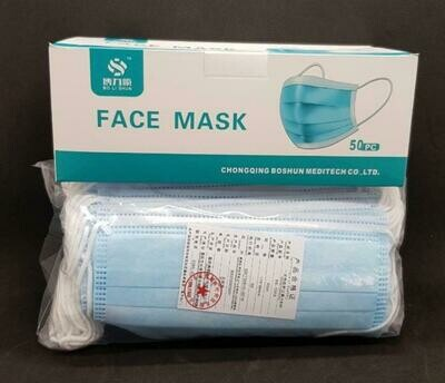 Masks-3 Ply Surgical 50's