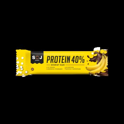 Протеиновый шоколадный батончик SPORT SOJ со вкусом банана 40 г.